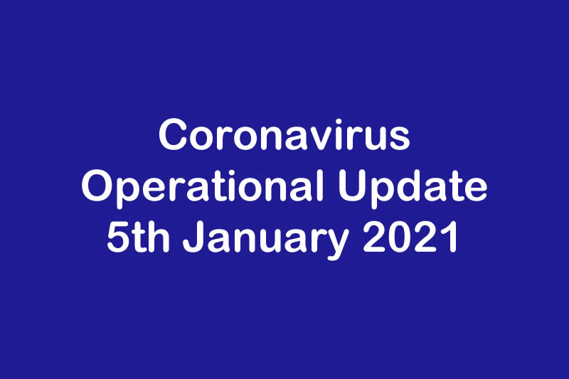 January 2021 - Operational Update for Coronavirus COVID 19 & Trent Refractories
