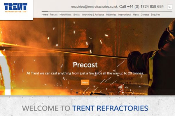 New Website Launched for Trent Refractories
